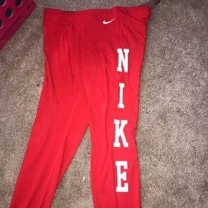 Nike XL red cotton leggings